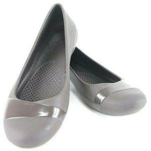 🔴 Crocs Gianna Espresso Ballet Flats